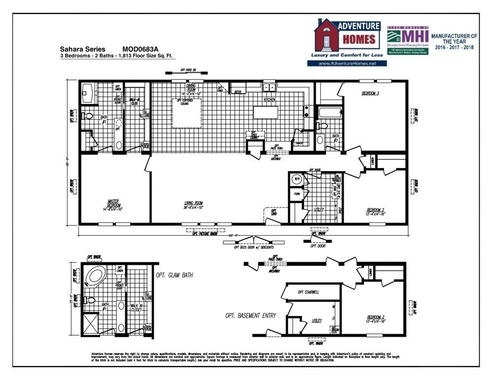 Mod 0683a - Clayton homes terminator 4 bedroom ...